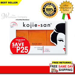 Kyпить Original Kojie San Skin Lightening Kojic Acid Soap 65g x 3 на еВаy.соm