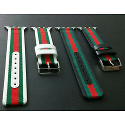 Kyпить Gucci Pattern Stripe Strap Replacement Leather Watch Band Sport For Apple Watch  на еВаy.соm