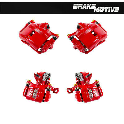 Front And Rear Red Brake Calipers For 1999 2000 HONDA CIVIC Si COUPE