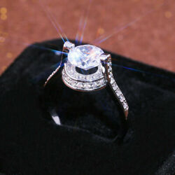 Kyпить Gorgeous Solitaire Engagement Hidden Halo Ring 14K White Gold 2Ct Round Diamond на еВаy.соm