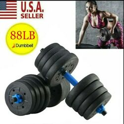 Kyпить Totall 88LB Weight Dumbbell Set Cap Gym Barbell Plates Body Workout Adjustable. на еВаy.соm