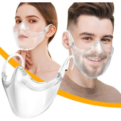 Kyпить Clear Face Mask Shield Safety Protector Reusable Plastic Transparent Cover USA на еВаy.соm