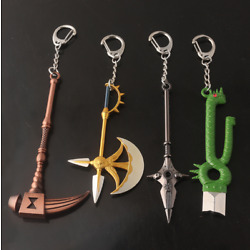 Kyпить The Seven Deadly Sins Axe Keychain Nanatsu no Taizai Escanor Divine Car keying на еВаy.соm