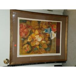Kyпить BEAUTIFUL SUNOL ALVAR EMBOSSED SIGNED E.A. ARTIST PROOF SIGNED FLOWER LITHOGRAPH на еВаy.соm