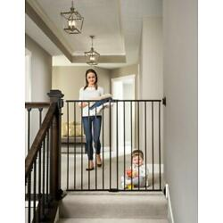 Kyпить Regalo 2-in-1 Extra Tall Easy Swing Stairway And Hallway Baby Gate, Black на еВаy.соm