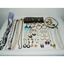 Kyпить Lot of Vintage to Now Costume Jewelry Necklaces Clip On Earrings Brooch Pin #3 на еВаy.соm