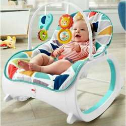 Kyпить Fisher-Price Infant-To-Toddler Rocker, Green with Removable Toy Bar на еВаy.соm