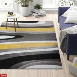 Kyпить Warford Abstract Yellow/Gold Area Rug на еВаy.соm