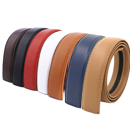 img-Mens Ratchet Belt Strap Only Replacement Leather Belt For Automatic Belt Buckle