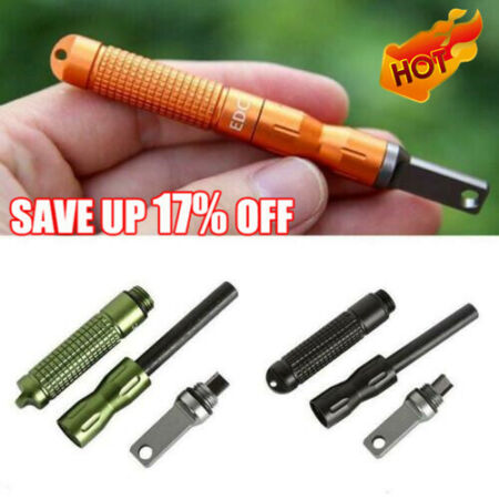 img-EDC Gear Survival Camping Fire Starter Outdoor Magnesium Waterproof Tool Kit