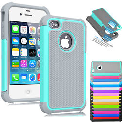 For iPhone 5 SE 5S Phone Case Hybrid Shockproof Armor Rubber Hard Shell Cover