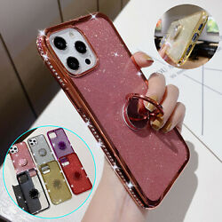 Kyпить For iPhone 12 Pro Max 11 XS XR 8 Plus 7 6s Bling Diamond Ring Holder Case Cover на еВаy.соm