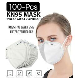 Kyпить Lot 10-100 White KN95 Protective 5 Layer Face Mask Disposable Respirator BFE 95% на еВаy.соm