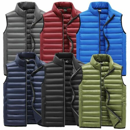 img-New Men's Winter Quilted Vest Body Warmer Sleeveless Padded Parka Jacket Coat`
