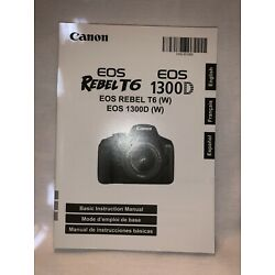 Kyпить Canon Rebel T6 EOS 1300D Instruction Owners Manual Book на еВаy.соm