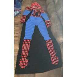 Kyпить Spiderman Crochet Blanket With Mask & Sleeves на еВаy.соm