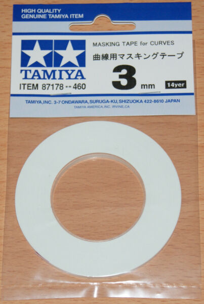 GroßbritannienTamiya 87178  Tape for Curves 3mm Width, 20m Length, for RC Body Shells