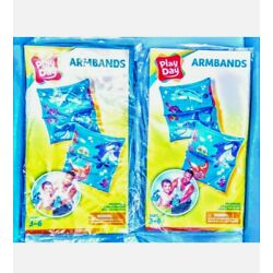 4pc (2 in each pk)  Play Day swim Arm bands,age 3-6,bright,6.25''x5.5''x4.5'',new