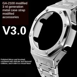 Kyпить 3rd Generation GA2100 Case Modification GA2110 Watchband Bezel 100% Metal 316L на еВаy.соm