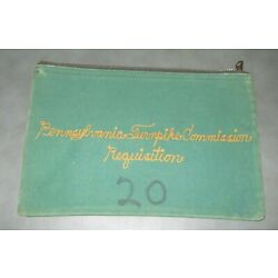 Kyпить Vintage Pennsylvania Turnpike Commission Bank Bag - Zippered Pouch на еВаy.соm