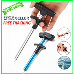 Kyпить Fish Hook REMOVER Puller Detacher T-Handle Extractor Fishing Tackle Easy Tool US на еВаy.соm