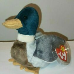 Ty Beanie Baby - JAKE the Mallard Drake Duck (1997) MINT with MINT TAGS