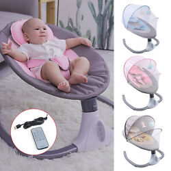 Baby Rocking Chair Newborn Electric Cradle Bouncer Swing Seat Soothing Safety