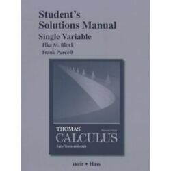 Student Solutions Manual, Single Variable, for Thomas' Calculus : Early...