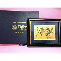 Running Horses Decal Run Together Frame Wall Art Deco Tiger Beer Compliment Gift