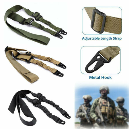 img-Outdoor Shoulder Rifle Gun Sling Strap Hunting Tactical Airsoft Rope Belt Useful