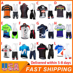 Kyпить Mens Road Bike Cycling Clothing Short Jersey Bib Shorts Set Shirt Tights Cushion на еВаy.соm