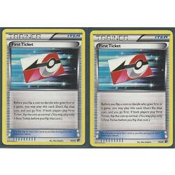 2x FIRST TICKET 19/20 DRAGON VAULT Pokemon Cards HOLO NM/MINT 2012 RELEASE
