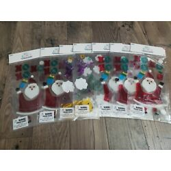 Lot of Santa Window Gel Clings with HOHOHO and present Classroom Party Decor xma