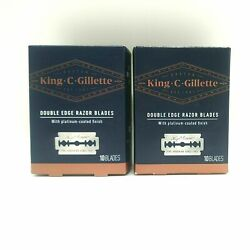 King C Gillette Double Edge Safety Razors 10 Blades Each, (Pack of 2)