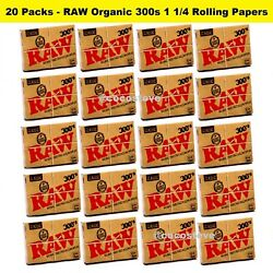 RAW Classic 300s 1 1/4 Rolling Papers 20 PACKS - Natural Unrefined 300 1.25