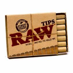 Kyпить 5 RAW PRE ROLLED TIPS Natural Prerolled for Cigarette Filter Rolling Paper Packs на еВаy.соm