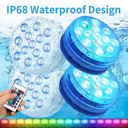 Kyпить 4x 16Colors Underwater Swimming Pool Light RGB LED for Pond Party Garden Hot Tub на еВаy.соm