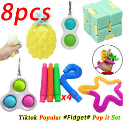 Kyпить Anti Stress Gift 8pcs/pack Adults Children Relief ADHD Bubble Figet Toys Set US на еВаy.соm