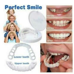 Kyпить Snap On Bottom /Upper Lower False Teeth Dental Veneers Dentures Fake Tooth Smile на еВаy.соm