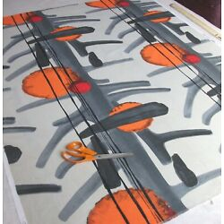 Kyпить Vintage 1960s SPACE AGE 'JUPITER' Design Fabric... на еВаy.соm