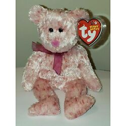 Ty Beanie Baby - SMITTEN the Pink Bear (Pink Nose Version) MINT with MINT TAGS