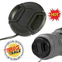 Kyпить 52mm Center Pinch Snap Front Lens Camera Cap Protection Covers With String Best на еВаy.соm