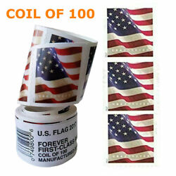 Kyпить 100 Pcs/Roll Stamp USPS 2017 US Flag Forever Postage Stamps Free & Fast Shipping на еВаy.соm