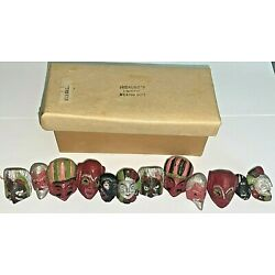 Kyпить  Vintage Mexican Folk Art Carved Wooden Painted Face / Masks Beads ~ Lot of 12 на еВаy.соm