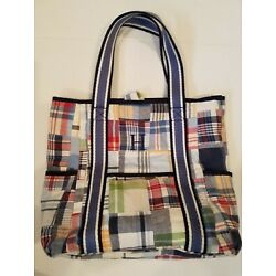 Kyпить pottery barn kids Madras Quilted tote на еВаy.соm