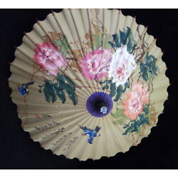 Kyпить 3p Lot VINTAGE but NEW Chinese Painted Paper Parasol Umbrella Japanese 1960s на еВаy.соm