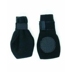 Fashion Pet Lookin Good Arctic Fleece Boots for Dogs, Small, Black