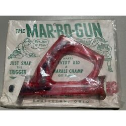 Kyпить 1950's Vintage Plastic Mar-bo-gun Toy Shoots marbles Made in Barberton Ohio USA на еВаy.соm