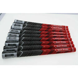 Kyпить 13x Golf Pride MCC PLUS 4 Club Grips Standard Gray Red Blue Full Set New на еВаy.соm