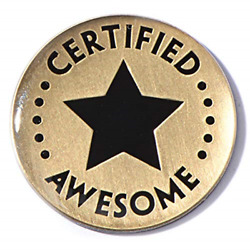 Kyпить Anderson's Certified Awesome Appreciation Award Lapel Pins, 12 Pins на еВаy.соm